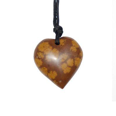 Bijoux en Pierre Fleurie - En forme de coeur