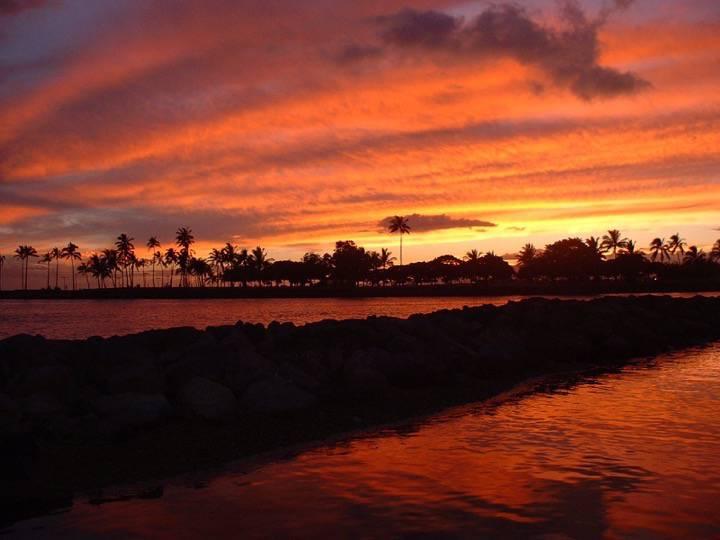 Coucher de Soleil - Honolulu