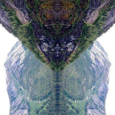 Tableau digigraphique - Collection Miroir - Rudyerd - Behn Canal - Alaska - 2005